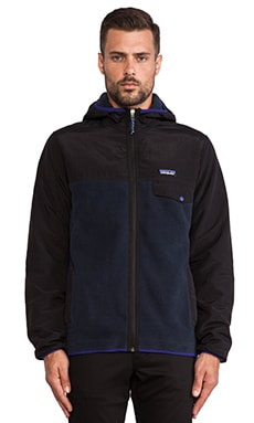 Patagonia Shelled Synchilla Snap-T Hoody in Blueblack & Black