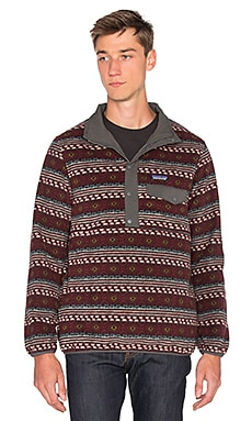 Patagonia Reversible Snap-T Glissade Pullover in Forge Grey