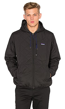 Patagonia Diamond Quilt Bomber Hoody in Black