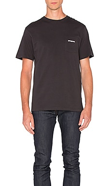 Patagonia P-6 Logo Pocket Tee in Black