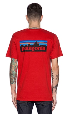 Patagonia P6 Logo Tee in Cochineal Red