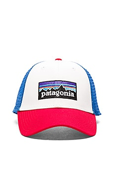 Patagonia P-6 Logo LoPro Trucker Hat in White