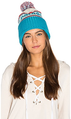 Powder Town Beanie in Park Stripe & Grecian Blue