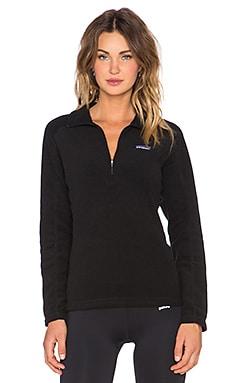 Patagonia Micro D 1/4 Zip Pullover in Black