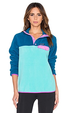 Patagonia Lightweight Synchilla Snap T Pullover in Howling Turquoise