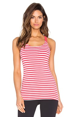 Patagonia Cross Back Tank in Vista Stripe Shock Pink