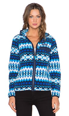Patagonia Snap T Hooded Jacket in Electron Blue Cliff