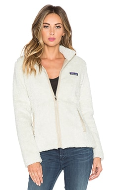 Patagonia Los Gatos Faux Fur Jacket in Bleached Stone