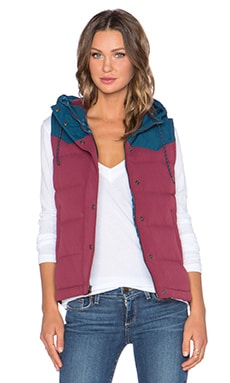 Patagonia Bivy Hooded Vest in Oxblood Red