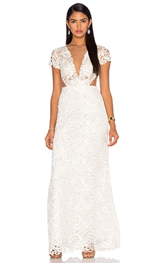 Deep V Lace Gown