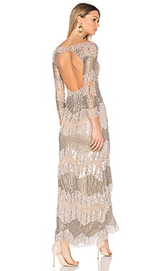 Boatneck Beaded Gown