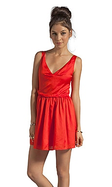 Patterson J. Kincaid x the man repeller Kramer Dress in Fiery Red