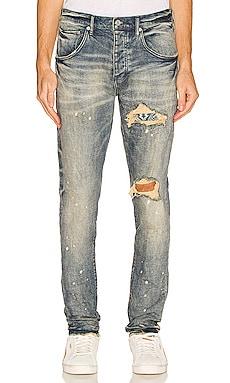 Bandana Patch Pocket Jeans Purple Brand $275