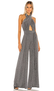 X REVOLVE Metallic Mesh Jumpsuit PatBO $695 Collections