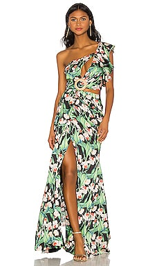 Asymmetrical Maxi Dress PatBo $750