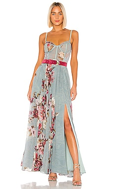 Peony Bustier Maxi Dress PatBO $995 BEST SELLER