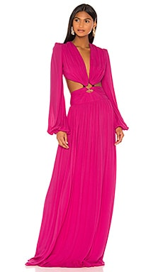 Neon Cutout Gown PatBO $716
