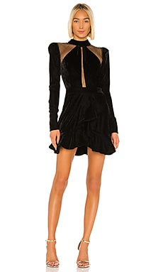 Velvet and Lurex Mini Dress PatBO $625 Collections