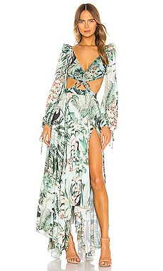 Eden Print Cut Out Maxi Dress PatBO $925