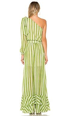 Patbo Striped One Shoulder Maxi Dress Discount Code