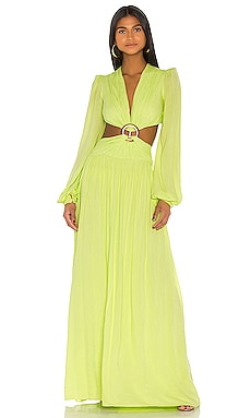 Neon Cutout Gown PatBO $430