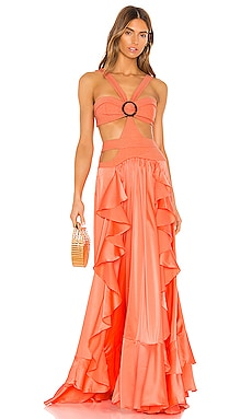 Cutout Maxi Dress PatBO $895