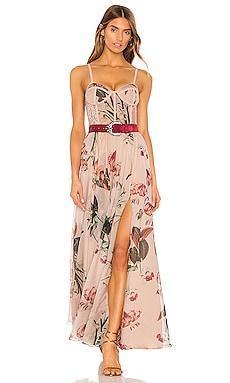 x REVOLVE Carolina Belted Bustier Dress PatBO $995