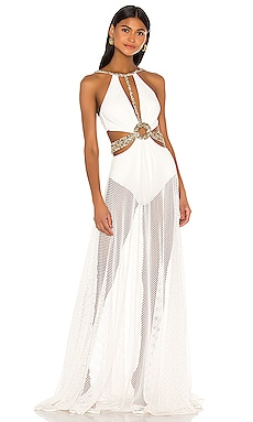 Beaded Cutout Beach Dress PatBO $895 BEST SELLER
