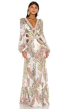 Palmeira Long Sleeve Crochet Beach Dress PatBO $825 BEST SELLER