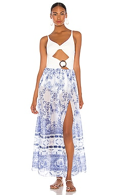 Amalfi Cut Out Beach Dress PatBO $375