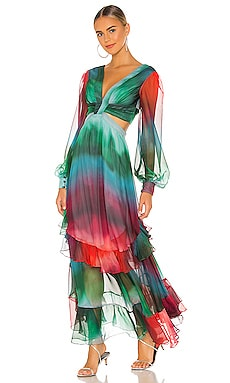 Sunset Cutout Maxi Dress PatBO $825