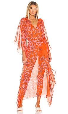 Coral Print Caftan PatBO $450 Collections