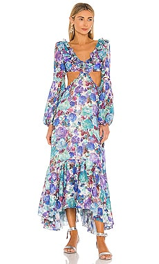 Blossom Cut Out Beach Dress PatBO $825 NEW