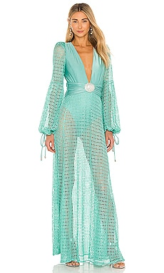 Netted Beach Dress PatBO $750 NEW