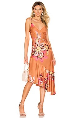 Floral Carmen Ruffle Slip Dress PatBO $219 Collections
