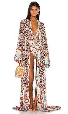 Mixed Print Sheer Kimono PatBO $595 Collections