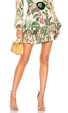 Paradise Print Ruffle Mini Skirt PatBO $239