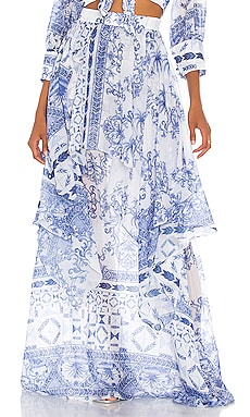 Amalfi Maxi Skirt PatBO $495 BEST SELLER