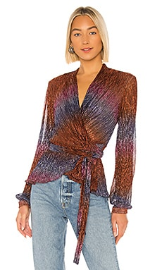 Rainbow Lurex Wrap Top PatBO $183