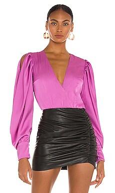 Plunge Bodysuit PatBO $425 NEW