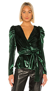 Liquid Velvet Wrap Top PatBO $333