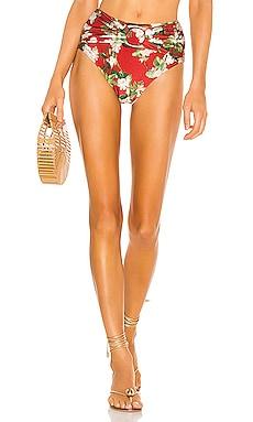 Floral High Waist Bikini Bottom PatBO $150
