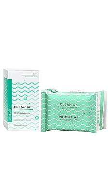 CONJUNTO DE TOALLITAS FACIALES CLEAN AF FACIAL CLEANSING WIPES 4 PACK Patchology $20