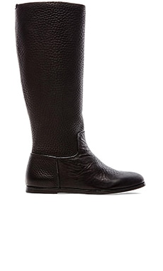 Pedro Garcia Ylva Cervo Flat Knee High Boot in Black