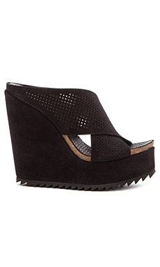 Pedro Garcia Tibby Wedge in Black Castoro