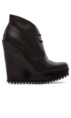 Pedro Garcia Violenta Cervo iIgh Wedge Lace Bootie in Black