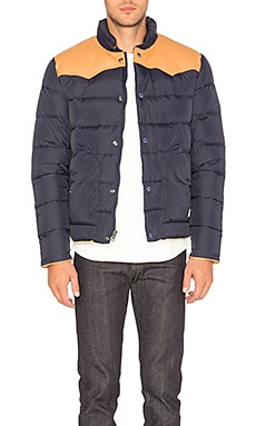 Pelam Leather Yoke Down Jacket