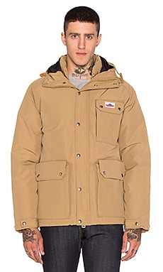 Penfield Apex Down Insulated Parka Jacket in Tan