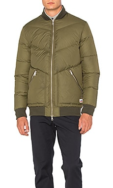 Penfield Vanleer Down Insulated Bomber in Olive