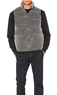 Penfield Outback Reflective Down Vest in Black